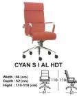 Kursi Direktur & Manager Indachi Cyan S I AL HDT