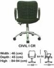 Kursi Staff & Sekretaris Indachi Civil I CR
