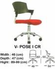 Kursi Staff & Sekretaris Indachi V-Pose I CR