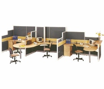 Partisi Kantor Uno Exclusive 3 Staff Configuration