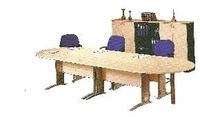 Meja Rapat Oval 3 Orang