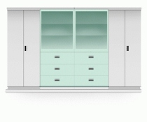 Multifile Cabinet System Alba MFC SDG - 360 (Kaca Sliding)
