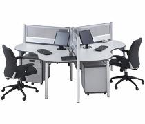 Konfigurasi 3 Orang (Warna Grey)