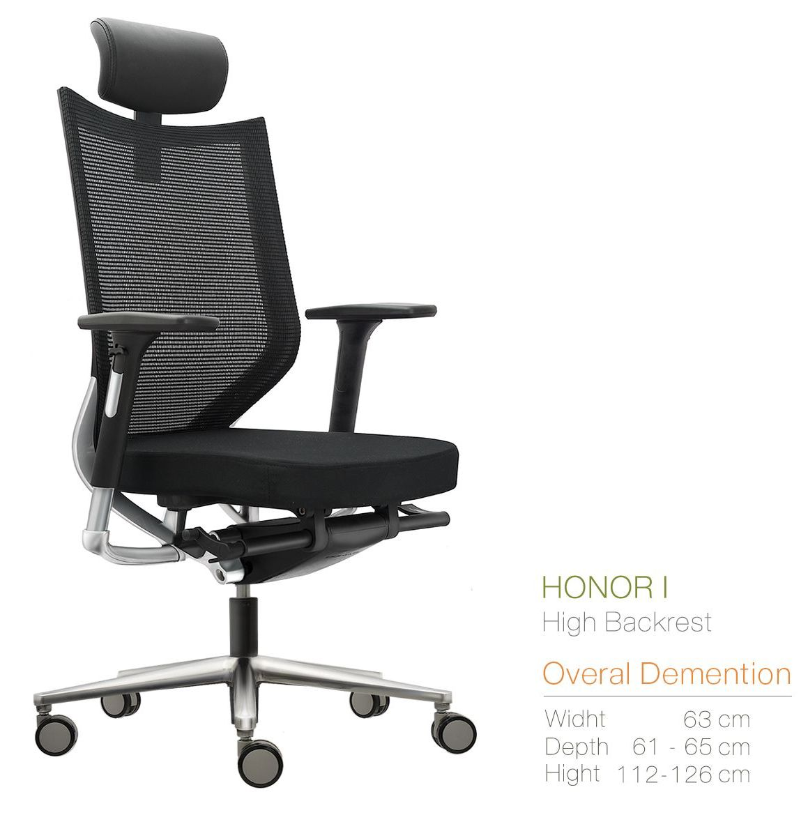 Kursi Kantor Inviti HONOR I (High Backrest)